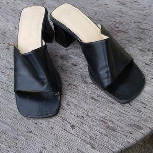 Dress Barn Leather slip on wedges. Sz. 8.5